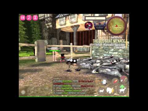 Goat Simulator MMO - Gameplay Review on iOS (iPad Air 2)