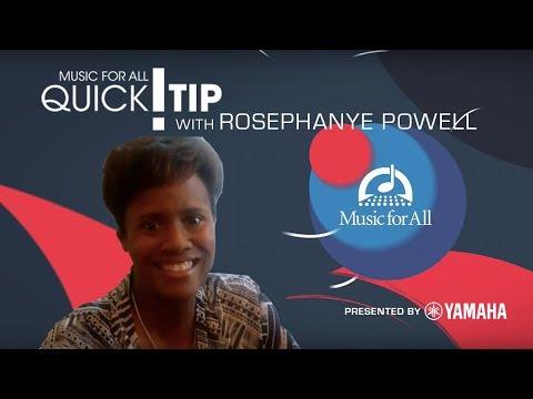 Quick Tip with Rosephanye Powell