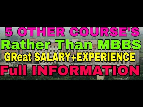 Career Option for Bio Students apart from MBBS & BDS.Great SALARY+EXPERIENCE.