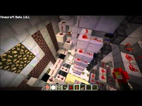 Improved minecraft fast piston elevator goes up and down