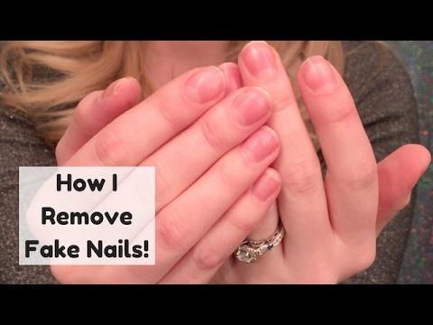 How I Remove My Fake Nails At Home!
