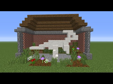 Tutorial:  Minecraft Dinosaur Skeleton