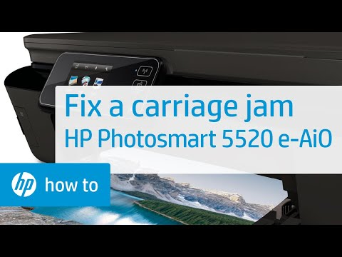 Fixing a Carriage Jam - HP Photosmart 5520 e-All-in-One Printer