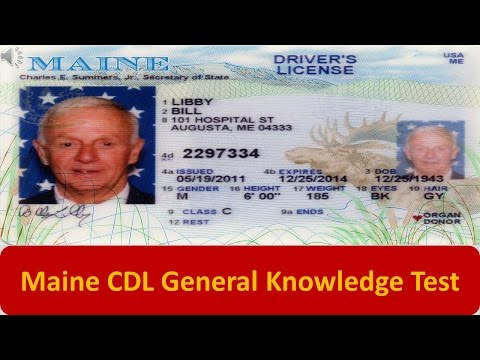 Maine CDL General Knowledge Test