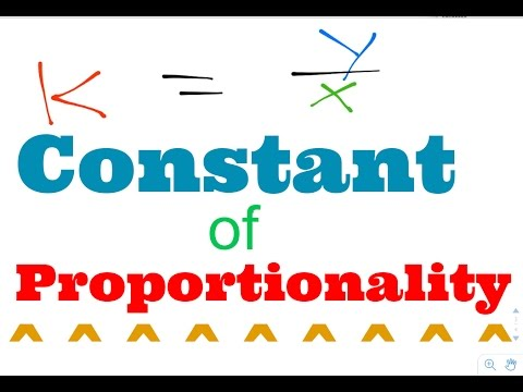 The Constant Of Proportionality - Proportional Relationships