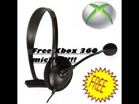 How to get a free xbox 360 mic