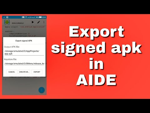 How to get signed apk in AIDE?