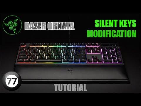 RAZER ORNATA | Silent (Quiet) Keys Modification Tutorial | No More Clicks!