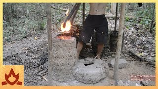 Primitive Technology: Simplified blower and furnace experiments
