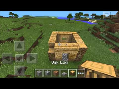 How to build a basic (fancy) house in Minecraft PE