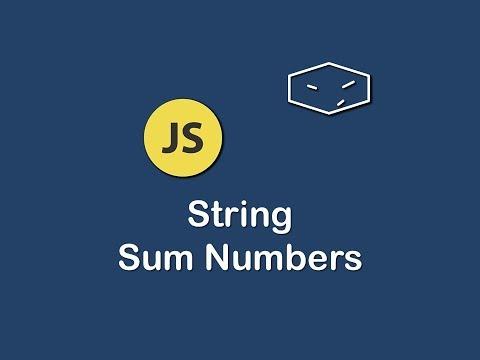 string sum numbers in javascript