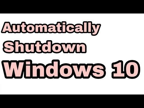 Automatically Shutdown windows 10 Pc    Shutdown timer