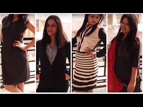 Interview Dressing Tips  Try-on Formals   Both indian and western formals.