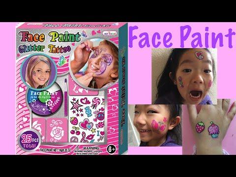 Face Paint Glitter Tattoo Makeup - DIY & Unboxing Fun!!!