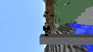 Beating Minecraft Sideways