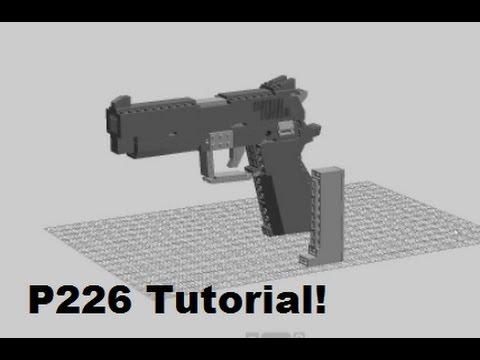 LEGO P226 Step by Step TUTORIAL!   Jim's Lego Guns