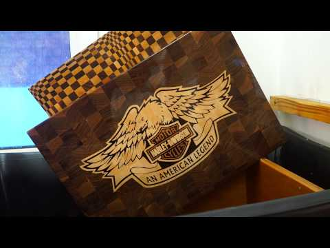 Making Harley Davidson Motor Cycles end grain cutting board