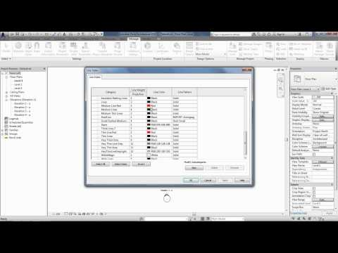 Setting up Line Weights, Types and Styles in Revit