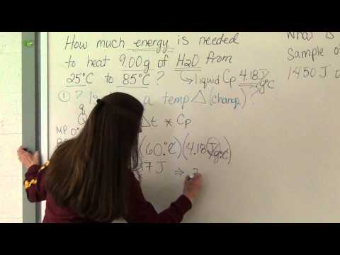 Specific Heat Example Problems