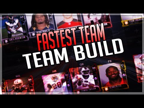 FASTEST TEAM BUILD IN MUT 18!!! FASTEST PLAYERS IN MUT 18!! | MADDEN 18 ULTIMATE TEAM