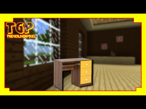 Minecraft PE: How to make a Working Studying Table
