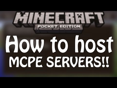 (0.8.1) HOW TO GET/HOST MCPE SERVERS!! Minecraft Pocket Edition!