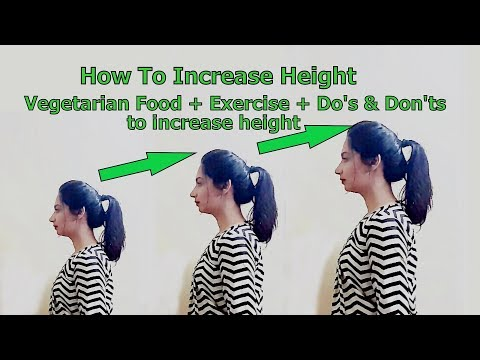 How to increase height | Do's & Don'ts +Food +Exercise to increase height fast || Glad To Share