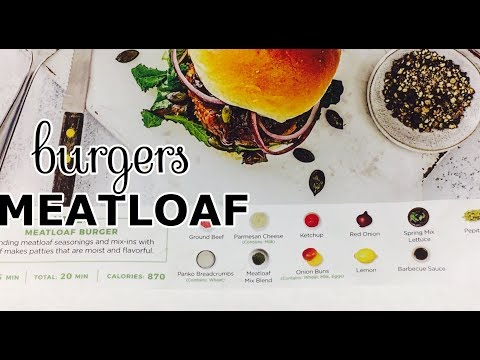 I TRIED HELLOFRESH MEATLOAF BURGERS | HOME MEAL DELIVERY KIT REVIEW