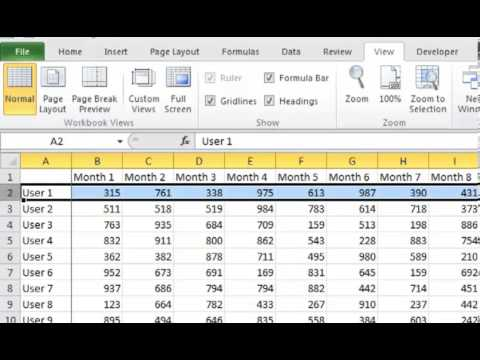 Excel 2010 Quick Tip: How to Freeze Panes