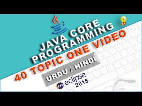 Complete Java core programming for Beginners Tutorial 40 Topics in Urdu Hindi Part 1