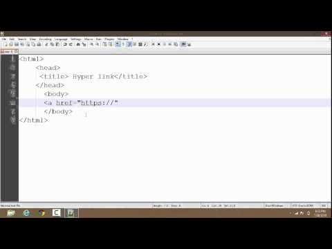 How To Create Hyperlink In HTML | Tutorial | (clickable link) in HTML