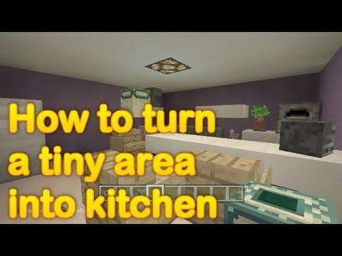 Minecraft - How to make a tiny kitchen!