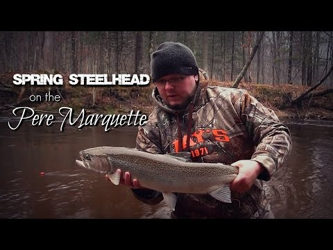 Spring SteelHead on the Pere Marquette