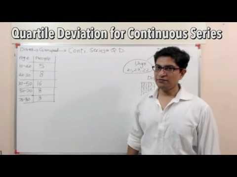 [Statistics For GS] Continuous Data Find Quartile Deviation (QD)