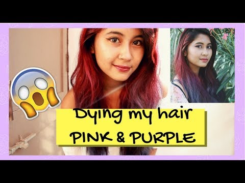 dying my hair pink and violet