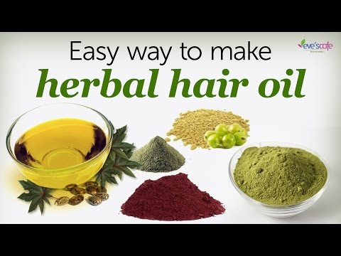 Herbal Hair Oil Preparation Using Herbal Powders