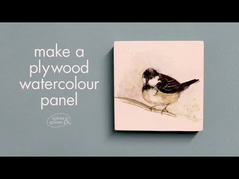 Make your own watercolour ground and gesso