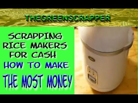 How to Scrap a Rice Maker for Cash - Scrapping Rice Cooker 4 Recycling Metal Money
