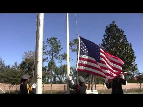 Military Flag Folding Ceremony Demonstration