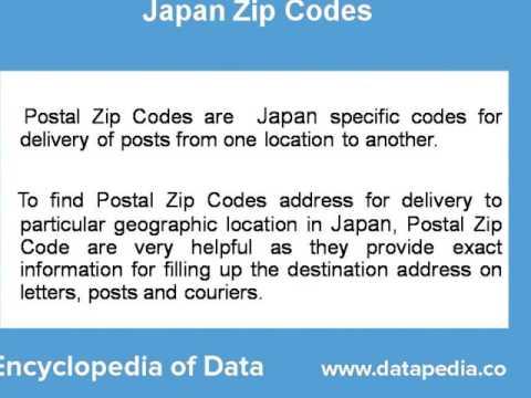Postal Zip Codes in Japan