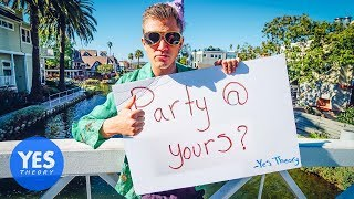 ASKING STRANGERS TO THROW A PARTY AT THEIR HOUSE (then invite strangers to the party)