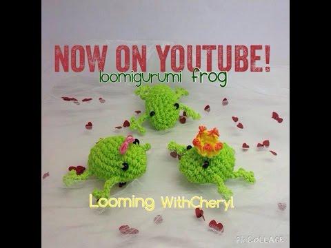 Rainbow Loom Frog - Loomigurumi - Amigurumi Hook Only Лумигуруми