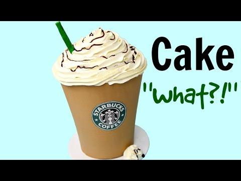 Giant Starbucks Mocha Frappuccino Cake - CAKE STYLE