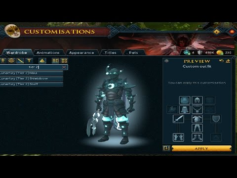 RuneScape Viewing Lunarfury Armour Set & Weapons Tier 1 & 2!