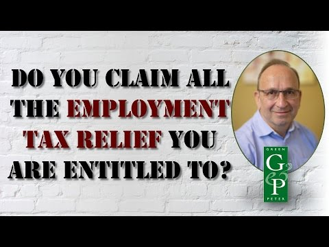 Do You Claim All Employment Tax The Relief You Are Entitled To? | Green and Peter | 020 8446 8100