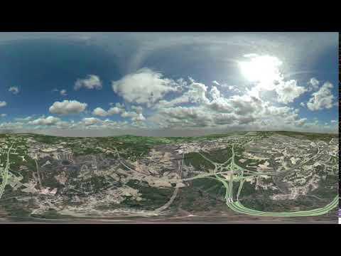Complete 540: I-40/U.S. 70 Bypass Interchange Visualization - View C (February 2018)