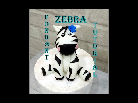 DIY- How to make a fondant zebra topper- Tutorial