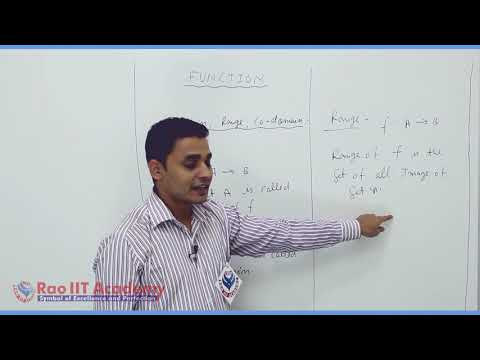 Set Relation Function Maths Part-9 std 11th HSC Board Video Lecture BY Rao IIT
