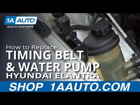 PART 2 How to Install Replace Timing Belt and Water Pump Hyundai Elantra