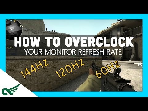 How to overclock your monitor (Increase your refresh rate! Hz) GOOD FOR GAMING! FREE!